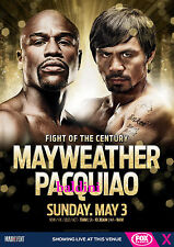 FLOYD MAYWEATHER & MANNY PACQUIAO FIGHT OF THE CENTURY OFFICIAL POSTER PHOTO