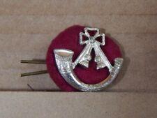 Light Infantry Regiment Collar Badge Stay Brite Genuine