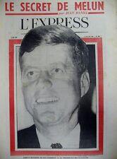 JOHN F. KENNEDY CANDIDAT PRESIDENT CUBA CASTRO DESSINS EFFEL TIM L'EXPRESS 1960