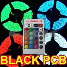 5M Black PCB Waterproof 5050 SMD RGB 300 LED Strip + Controller + Tracking H