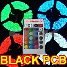 5x 5M Black PCB Waterproof 5050 SMD RGB 300 LED Strip + Controller + Tracking H