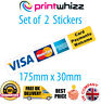 2x Card Payments Welcome Credit Card Sticker Printed Vinyl Shop Taxi Trader VISA