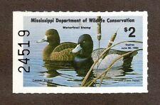 MS8 - Mississippi  State Duck Stamp. MNH. OG.. #02 MS8