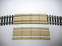 HO Scale ** Laser Cut ** Custom Double Lane  22 in. Curved Crossing  ~ 2 Pack