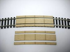 HO Scale ** Laser Cut ** Custom Double Lane  24 in. Curved Crossing  ~ 2 Pack