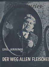 WEG ALLEN FLEISCHES (BFK 759a, 1927) - EMIL JANNINGS / VICTOR FLEMING/ STUMMFILM