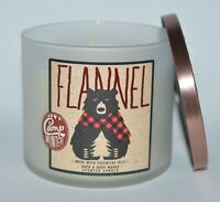 BATH & BODY WORKS FLANNEL SCENTED CANDLE 3 WICK 14.5OZ LARGE ORANGE PATCHOULI