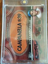 ROY CAMPANELLA BROWN LEATHER NAMEPLATE 2011 TOPPS BASEBALL