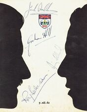 BRADMAN/CLARK/HILL/SALVADORI - Signed BRDC Annual Dinner and Dance Programme