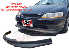 HC1 Carbon Print Style Front Lip for 1998 - 2000 HONDA ACCORD Coupe NONV6