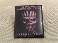 IRON MAIDEN 'THE BOOK OF SOULS' UK TOUR 2017 PIN BADGE NEW