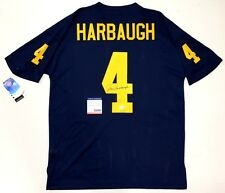 Jim Harbaugh Signed Michigan Wolverines Home Blue Adidas Jersey Psa Coa