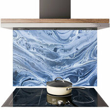 Glass Splashback Kitchen Tile Cooker Panel ANY SIZE Pattern Liquid Marble 0808