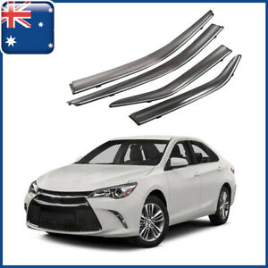 AUS Weathershields Weather Shields Chrome Visors Trim For Toyota Camry 2012-2017