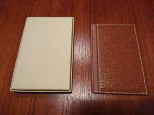 ROLEX Leather Notepad Brown