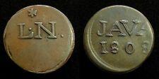 Netherlands Indies - JAVA Duit 1808 met L.N. (Lodewijk Napoleon) ~ Scho. 582b. S