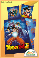 Bettwäsch Dragon Ball Super Son-Goku Reißverschluß Gr. 135x200cm NEU