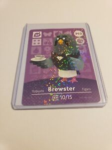 Brewster # 302 Animal Crossing Amiibo Card Series 4 MINT NEVER SCANNED!