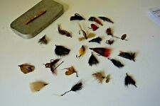 Vintage Antique Flies and box Probably teens - 20's Rough Box