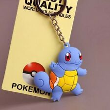 Pokemon Squirtle Rubber Keychain 2 Inches Double Sided US Seller
