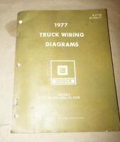 1977 GM Models 10-1500 thru 30-3500 Truck Wiring Diagrams Service Manual Book