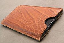 Samsung Galaxy s4 Mini Funda de cuero marrón case Bag pouch funda estuche, protección