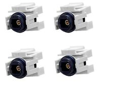 4x Audio Toslink Optic Fiber Optics Snap-in Jack Insert for Keystone Wall Plate