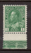 Canada #104 Very Fine Never Hinged Lathework B Smudge Variety **With Cert.**