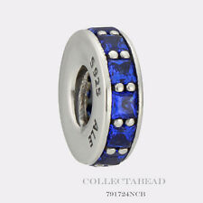 Authentic Pandora Silver Eternity Royal Blue Crystal Bead 791724NCB *SPECIAL