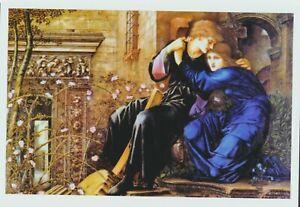 Burne-Jones Pre-Raphaelite Art Print Couple Romance Lovers LOVE AMONG RUINS Rose