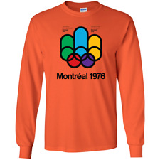 Montreal, 1976, Retro, Quebec, Canada - G240 Gildan Long Sleeve T-Shirt
