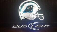 "New Bud Light Carolina Panthers Neon Light Sign 20""x16"""