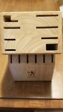 ZWILLING J.A. Henckels 14-slot Bamboo Knife Block New Other