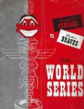 bed wall 1948 baseball Cleveland Indians vs Chicago White Sox Program tin sign
