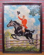 Orig Old HUNTER BALTIMORE RYE WHISKEY Advertising Sign c1941 Bar Pub Tavern