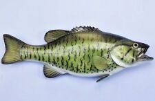 "Taxidermy Small Mouth Bass Wall Plaque/ Wall Sculpture 13"" Fish Mount Decor"