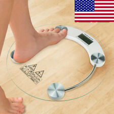 Digital Body Weighing Scale Electronic LCD Bathroom Glass Weight Scales 180KG