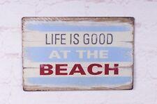 Metal Tin Sign Life Is Good At The Beach Decor Bar Pub Home Vintage Retro Poster