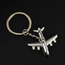 Cool 3D Simulation Model airplane plane Keychain Key Chain Ring Keyring Gift HOT