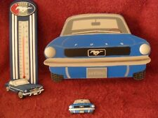 "2006 Issue 1964 ""FORD MUSTANG"" WOODEN ""Collectible"" 3-Piece-KEEPSAKES Combo SET"