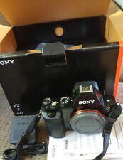 Sony Alpha A7 Digital SLR Camera - Black (Body Only) original owner box paperwor