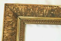 "BIG ANTIQUE FITS 12 X 20"" GOLD PICTURE FRAME WOOD GESSO ORNATE FINE ART COUNTRY"