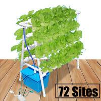 72 Plant Sites Grow Hydroponic Ladder Vegetable Flower Tool Kit Garden System