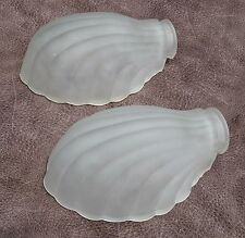 2 Art Deco Frosted Glass Slip Shade for Sconce Chandelier
