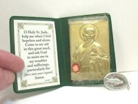 ST. JUDE PATRON SAINT OF HOPELESS CASES RELIC IN CASE WITH MEDAL VINTAGE