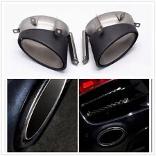 Pair Carbon Fiber Exhaust Tip pipe End Pipes Tailpipes For Audi R8 2010-2012