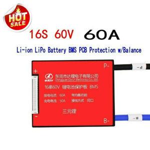 16S 60V 60A Lithium ion Li-ion LiPo BMS PCB Protection Board Balance Waterproof