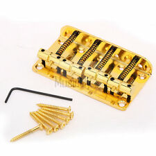 Musiclily Gold 4 String Vintage Bridge For Fender Jazz Bass JB Top Load Upgrade