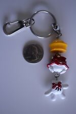 Disney Minnie Mouse Body Parts Dangle Charm Hat Hand Skirt Key Chain #20476