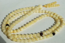 Baltic states natural islam amber necklace, bracelet, buddhist amber,white color
